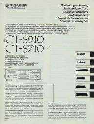 Pioneer CT-S 910 / CT-S 710 Bedienungsanleitung