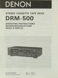 Denon DRM-500 Bedienungsanleitung