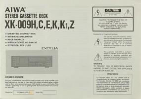 Aiwa XK-009 H, C, E, K, K1, Z Bedienungsanleitung