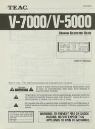 Teac V-7000 / V-5000 Bedienungsanleitung