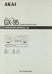 Akai GX-95 Bedienungsanleitung