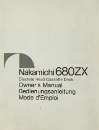 Nakamichi 680 Z Bedienungsanleitung