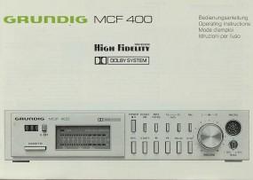 Grundig MCF 400 Bedienungsanleitung