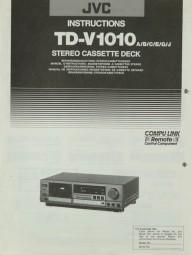 JVC TD-V 1010 A/B/C/E/G/J Bedienungsanleitung