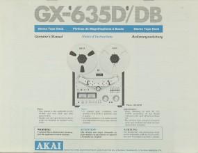 Akai GX-635 D / DB Bedienungsanleitung