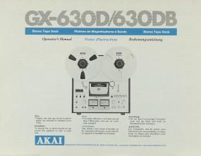 Akai GX-630 D / 630 DB Bedienungsanleitung