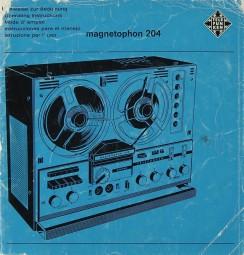 Telefunken Magnetophon 204 Bedienungsanleitung