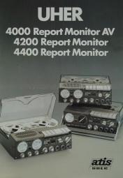 Uher 4000 Report Monitor AV / 4200 R. M. / 4400 R. M. Prospekt / Katalog