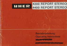 Uher 4200 / 4400 Report Stereo IC Bedienungsanleitung