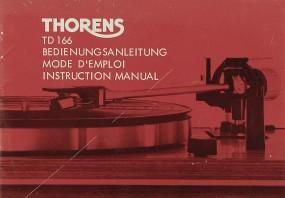 Thorens TD 166 Bedienungsanleitung