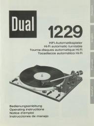 Dual 1229 Bedienungsanleitung