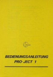 Pro-Ject Pro-Ject 1 Bedienungsanleitung