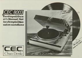 CEC CEC 8003 Bedienungsanleitung