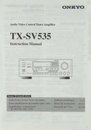 Onkyo TX-SV 535 Bedienungsanleitung