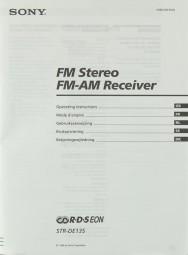 Sony STR-DE 135 Bedienungsanleitung