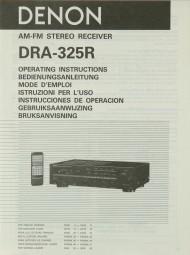 Denon DRA-325 R Bedienungsanleitung