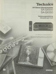 Technics SA-GX 550 / SA-GX 350 Bedienungsanleitung