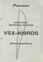 Sony VSX-409 RDS Bedienungsanleitung