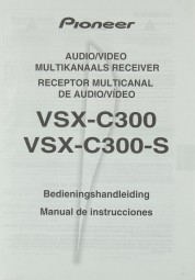Sony VSX-C 300 / VSX-C 300-S Bedienungsanleitung