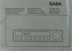 Saba Ultra Hifi Professional 9241 digital Bedienungsanleitung