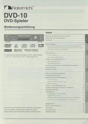 Nakamichi DVD-10 Bedienungsanleitung
