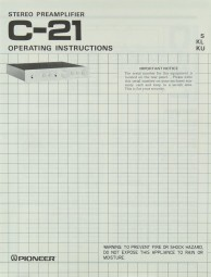 Pioneer C-21 Bedienungsanleitung