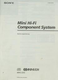 Sony MHC-EX 5 Bedienungsanleitung