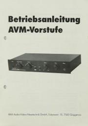 AVM Vorstufe Bedienungsanleitung