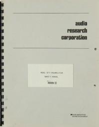 Audio Research Model SP 11 Mark II Bedienungsanleitung