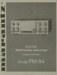 Marantz Model PM-84 Bedienungsanleitung