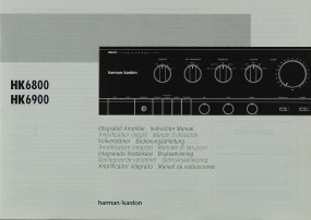 Harman / Kardon HK 6800 / HK 6900 Bedienungsanleitung