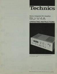 Technics SU-V 4 A Bedienungsanleitung