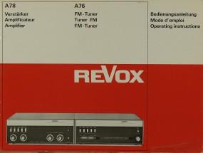 Revox A 78 / A 76 Bedienungsanleitung