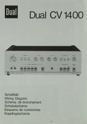 Dual CV 1400 Schaltplan / Serviceunterlagen