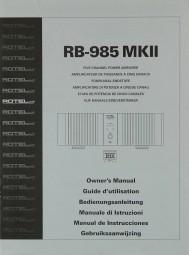 Rotel RB-985 MK II Bedienungsanleitung