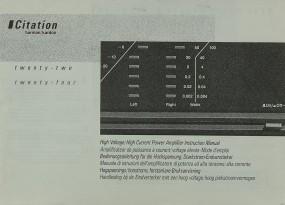 Harman / Kardon Citation 22 / Citation 24 Bedienungsanleitung