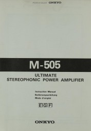 Onkyo M-505 Bedienungsanleitung