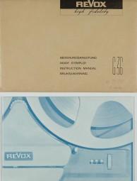 Revox G 36 Bedienungsanleitung
