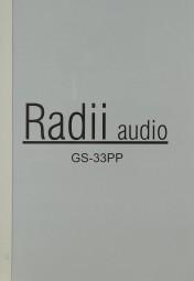 Radii Audio GS-33 PP Bedienungsanleitung