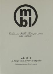 MBL MBL 9010 Bedienungsanleitung