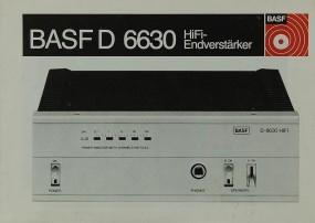 BASF BASF D 6630 Bedienungsanleitung