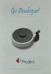 Pro-Ject Go Analogue! / Produktübersicht 2002/2003 Prospekt / Katalog