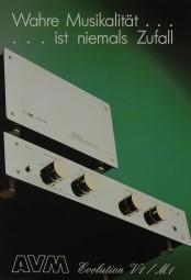 AVM Evolution V 1 / M 1 Prospekt / Katalog