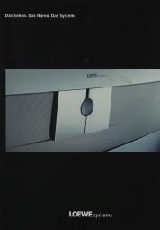 Loewe Das Sehen. Das Hören. Das System. Prospekt / Katalog