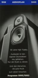Audioplan Programm 2002/2003 Prospekt / Katalog