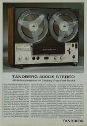 Tandberg 3000 X Prospekt / Katalog
