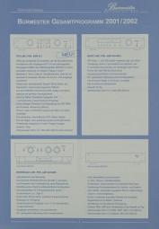 Burmester Gesamrprogramm 2001/2002 Prospekt / Katalog