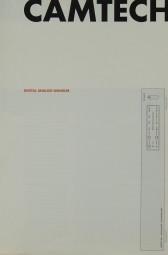Camtech Digital Analog Wandler Prospekt / Katalog