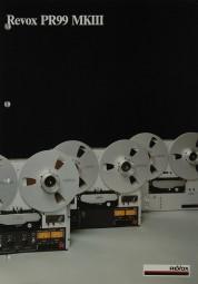 Revox PR 99 MK III Prospekt / Katalog