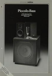 Revox Piccolo-Bass Prospekt / Katalog